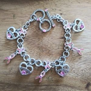 Jewelry - Breast cancer awareness charm braclet